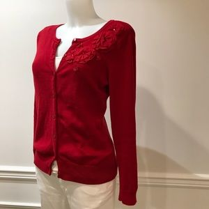 Lovely Christopher & Banks red button up cardigan